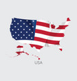 map usa with flag vector image