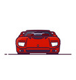 muscle car front view vector image