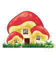 mushroom house on the grass vector image vector image