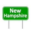 New Hampshire green road sign vector image