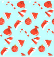 new year red and white objects pattern sweets vector image