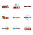news icons set flat style vector image