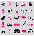 plague and disease theme simple stickers vector image