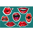 pop art sexy fashion patch badges or fancy vector image vector image