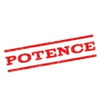 Potence Watermark Stamp vector image vector image