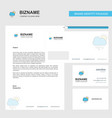 raining business letterhead envelope and visiting vector image vector image