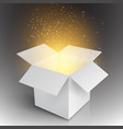 Realistic Magic Open Box Magic Gift Box vector image vector image