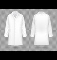realistic white medical lab coat hospital vector image vector image