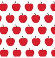 red apple fruit harvest fresh seamless pattern vector image vector image