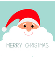 Santa Claus face with big beard Merry Christmas vector image vector image
