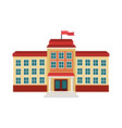 school building facade flag windows vector image