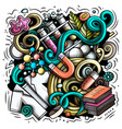 science cartoon doodle design vector image vector image