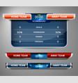 scoreboard sport template vector image