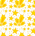Seamless background design with yellow stars vector image