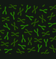 seamless chromosomes pattern on dark background vector image vector image