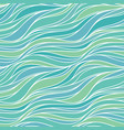 seamless pattern with lines abstract green wave vector image vector image