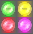 set abstract color glow light effect vector image vector image