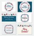 set of christmas greeting card vector image vector image