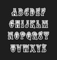 set of victorian style alphabet letters font vector image vector image