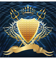 Shield with tridents vector image vector image