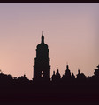 silhouette of saint sophias cathedral in kiev vector image