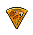 slice pizza food symbol vector image