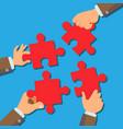 solution concept businessman hands vector image