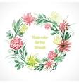 spring floral wreath vector image vector image