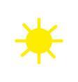 sun icon trendy summer symbol for website vector image vector image