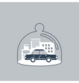 Trunsport coverage policy icon vector image vector image