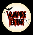 vampire terror halloween horror graphic log vector image