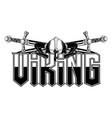 vikingi helmet 0017 vector image