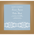 wedding invitation card with floral ornament vector image vector image