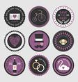 Wedding set of label badges stamp and design vector image vector image