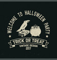 welcome to halloween party vector image vector image