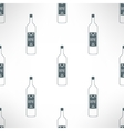 wine bottles seamless pattern in modern vector image vector image