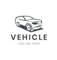 vehicle logo template car icon for business vector image