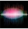 Sharp colorful waveform vector image