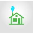 Eco house icon 01 vector image
