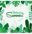 summer greeting card or vector image