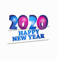 2020 happy new year celebration banner isolated vector image vector image