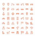 49 road icons vector image vector image