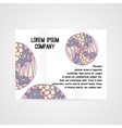 Abstract brochure with hand drawn ornament vector image vector image