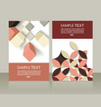 abstract brochures design vector image vector image