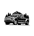 adventure dually truck car 4x4 isolated vector image