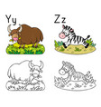 animals alphabet or abc coloring book vector image vector image
