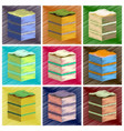 assembly flat shading style icons piece of cake vector image vector image