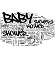 baby shower text word cloud concept vector image vector image