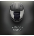 Background of gray motorcycle helmet vector image