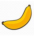 banana cartoon on white background with gray dots